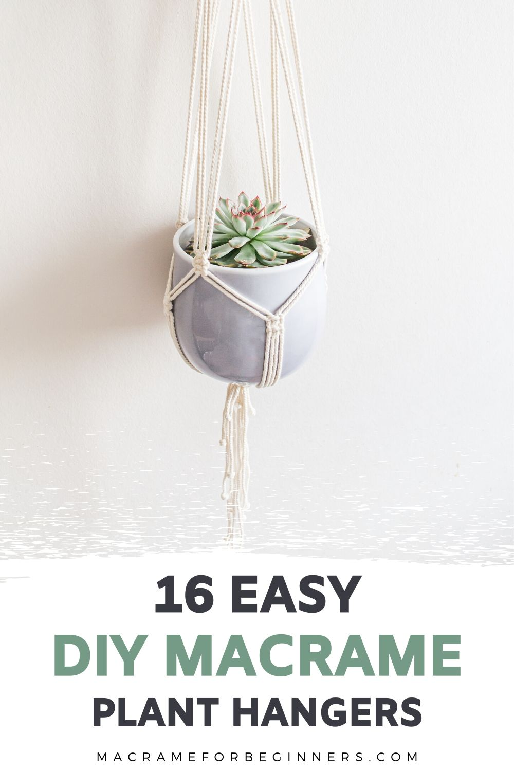 16 Easy DIY Macrame Plant Hangers for Beginners - Macrame for Beginners