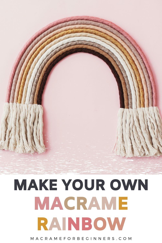 10 x Easy Macrame Rainbow DIY Wall Hanging Tutorials
