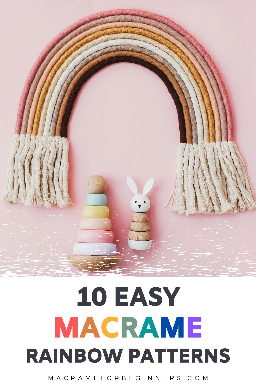 10 x Easy Macrame Rainbow DIY Wall Hanging Tutorials