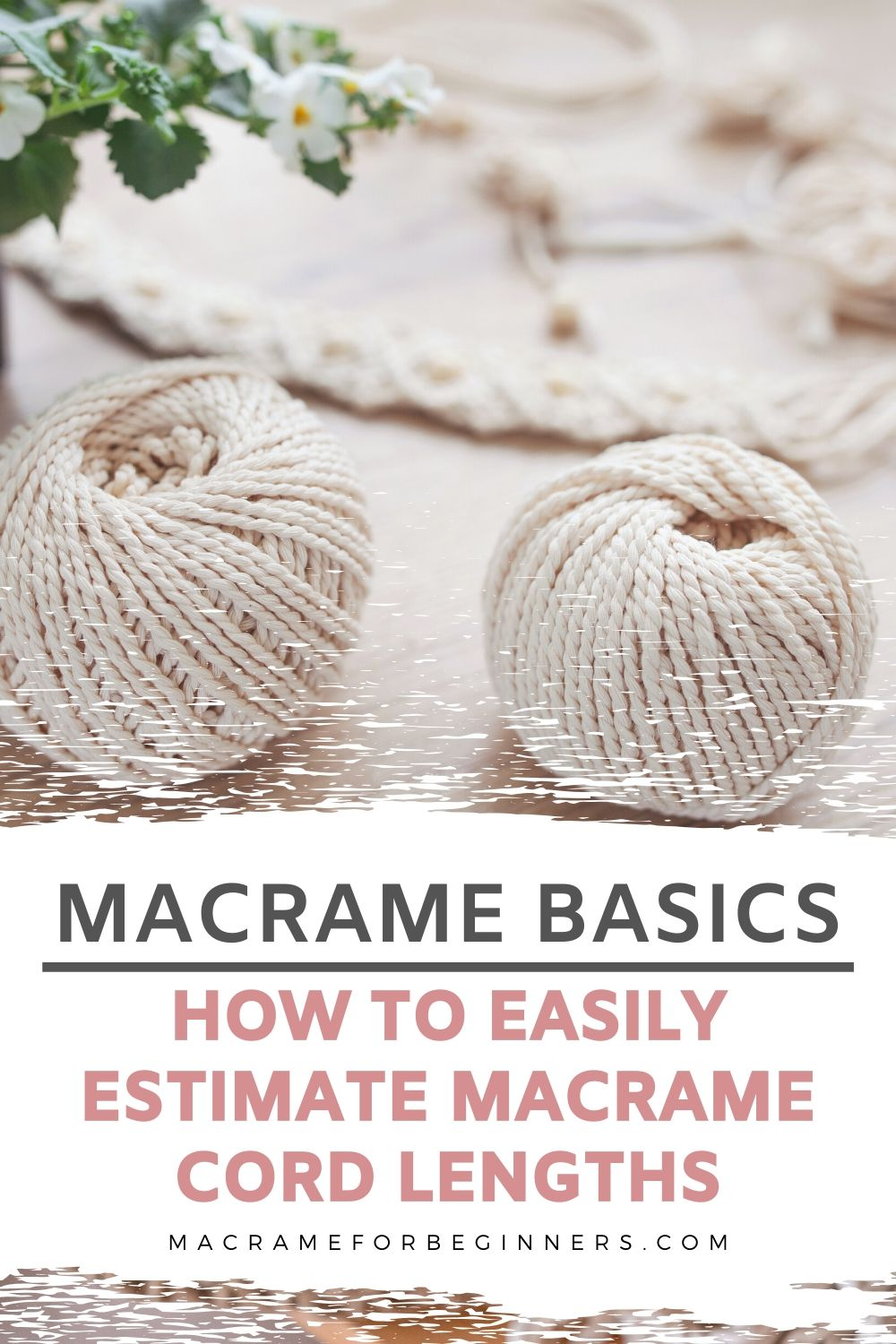 Macrame Basics - How To Easily Measure Macrame Cord Lengths - Macrame Tutorials for Beginners