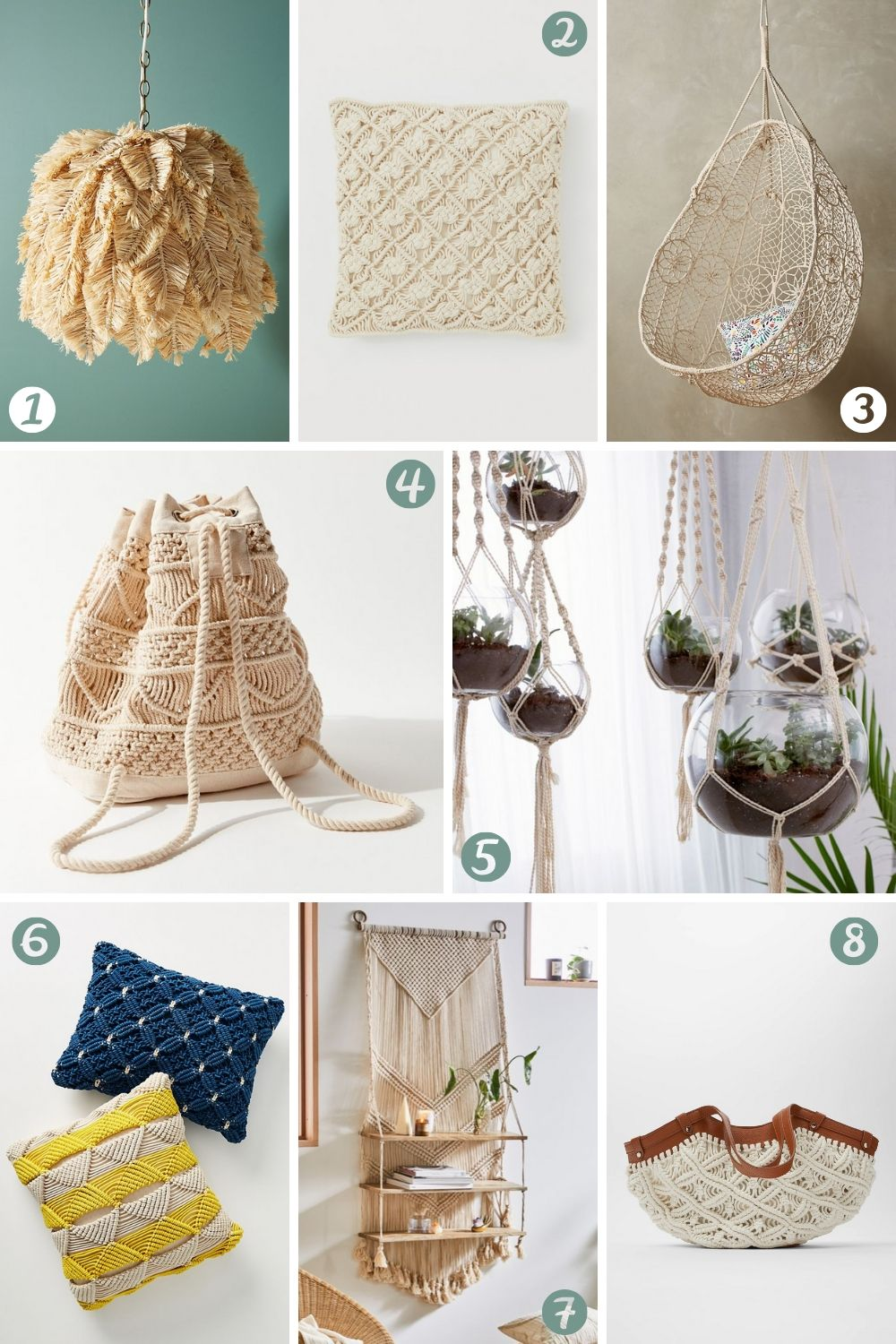 Macrame Products - Boho Macrame Musthaves for Summer 2020