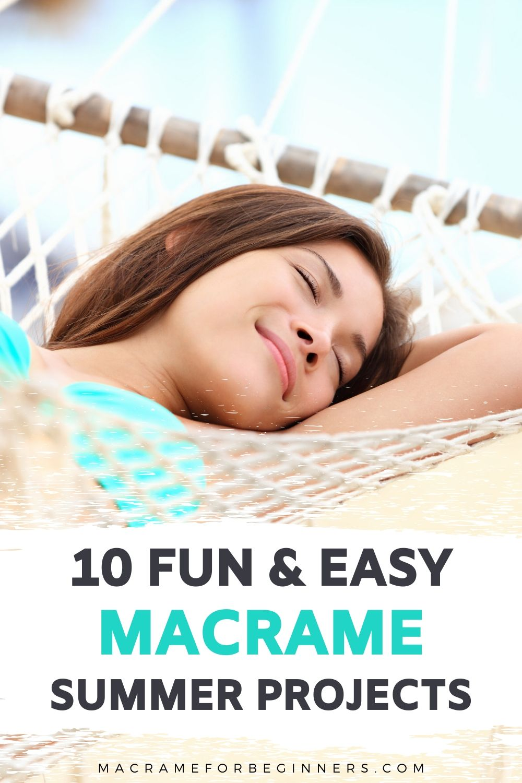 TOP 10 Fun DIY Macrame Summer Projects