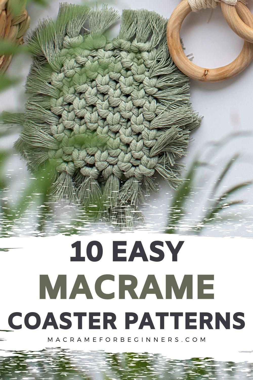 12 Easy Boho DIY Macrame Coasters