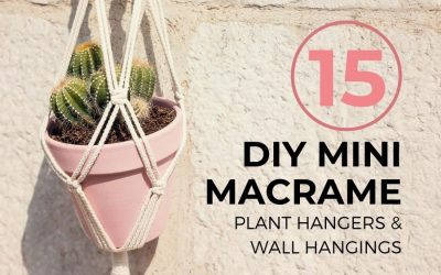 15 Easy DIY Mini Macrame Plant Hangers & Wall Hangings