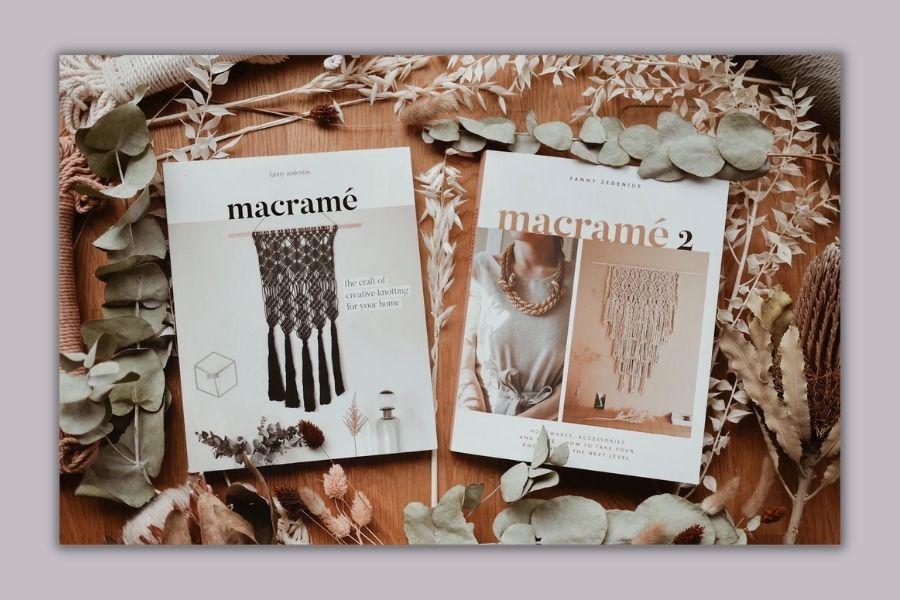 Best Macrame Books for Beginners & Beyond - Macrame 1 & Macrame 2 by Fanny Zedenius