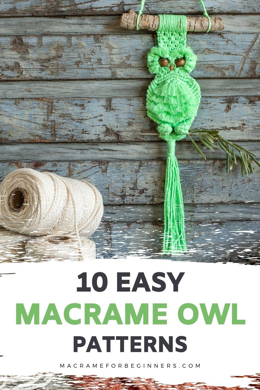 10 Easy DIY Macrame Owl Patterns for Beginners