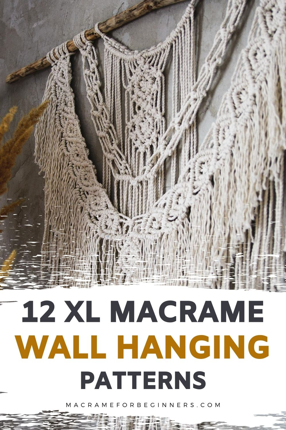 12 Gorgeous Large Macrame Wall Hanging Patterns - Macrame for Beginners