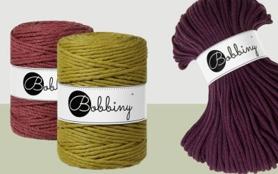 Bobbiny Launches 3 New Fall Colors – Discover Kiwi, Blackberry and Wild Rose Macrame Cords