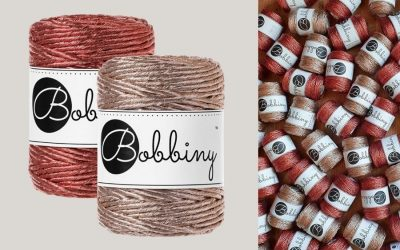 Bobbiny Adds Champagne and Copper to their Gorgeous Metallic Macrame Cord Collection