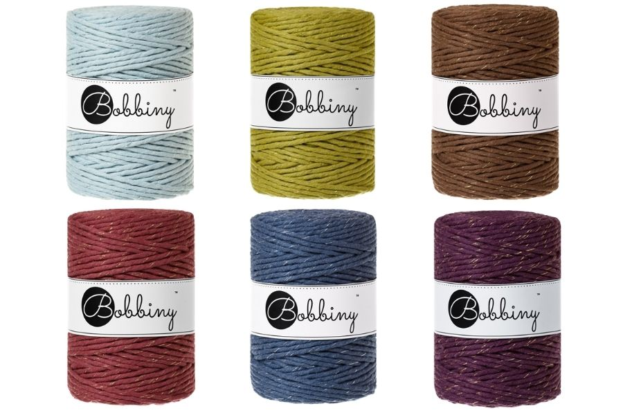 Bobbiny Limited Edition Sparkling Gold Silver Cords