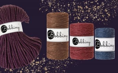 Make your Macrame Pieces Sparkle with 6 NEW Limited Edition Bobbiny Cords