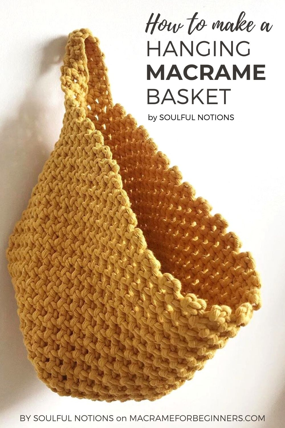 How to Make a Hanging Macrame Basket - Video Tutorial by Soulful Notions