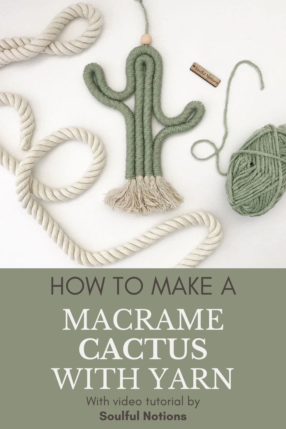 How to Make a Macrame Cactus - Easy Video Tutorial by Soulful Notions