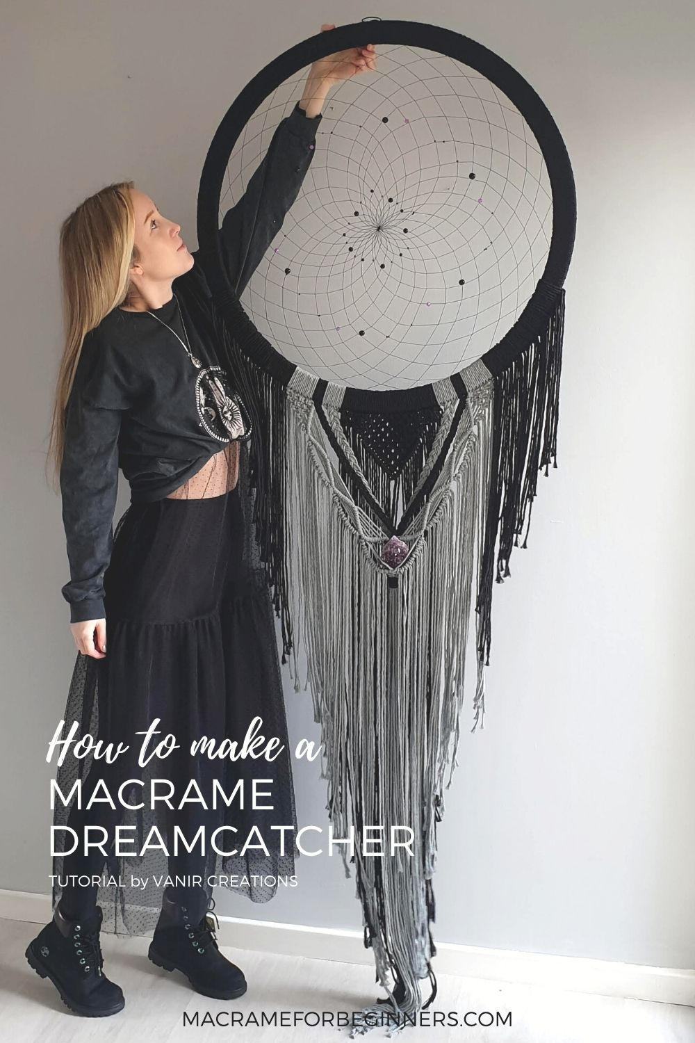 How to make a Macrame Mooncatcher by Vanir Creations