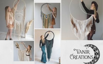 Learn How to Make Beautiful Macrame Moon Dreamcatchers with Vanir Creations