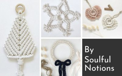 Make Your Own Gorgeous Macrame Christmas Decorations – Easy Video Tutorials by Soulful Notions