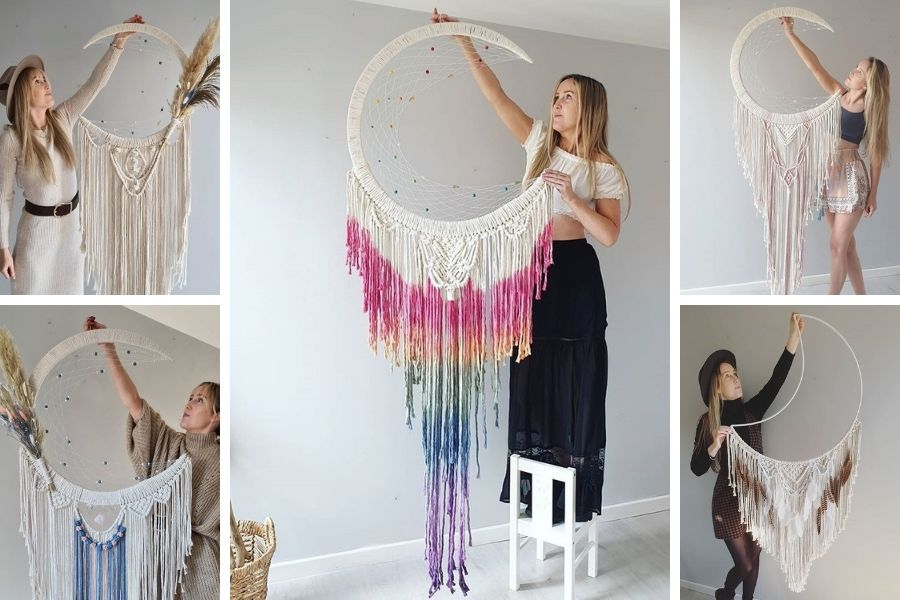 Vanir Creations - Rebecca Millar - Dreamcatchers Mooncatchers - Macrame for Beginners 3