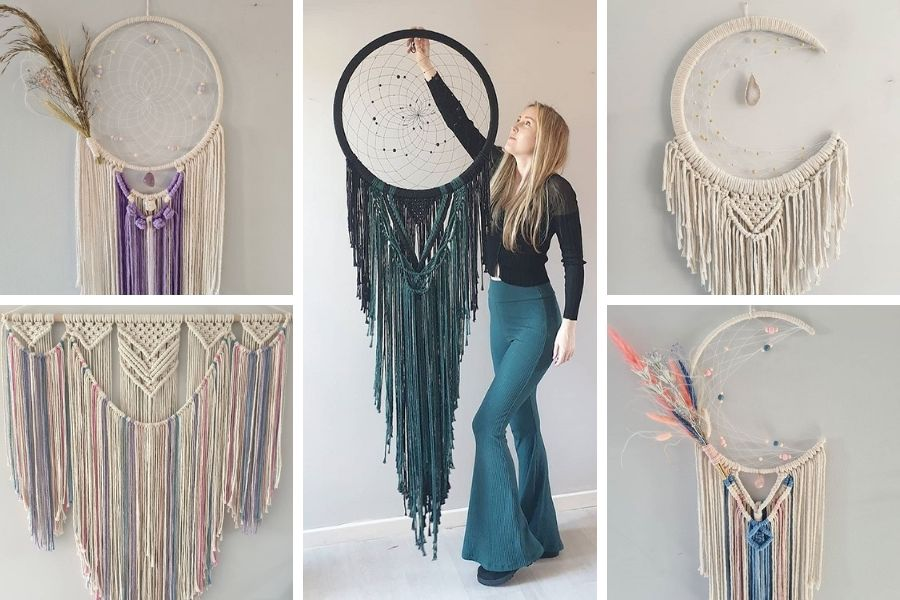 Vanir Creations - Rebecca Millar - Dreamcatchers Mooncatchers - Macrame for Beginners