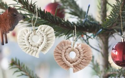 15 Easy DIY Macrame Christmas Ornaments to Hang in Your Tree