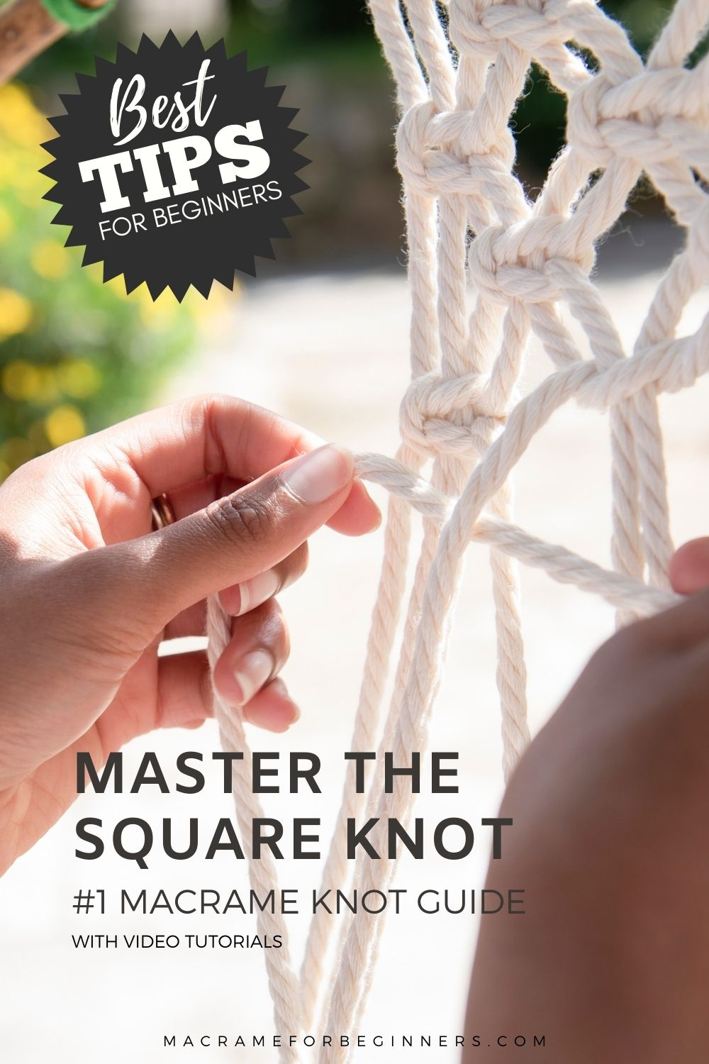 Square Knot Tutorial - #1 Macrame Knot Guide for Beginners