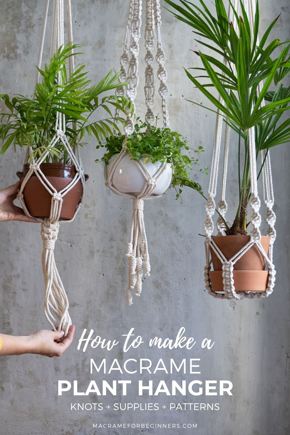 How to Make a Macrame Plant Hanger – Knots + Supplies + Patterns - Best Tips for Beginners