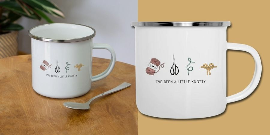 Macrame Enamel Camper Mug Designs Quote Knotty - Macrame for Beginners 2