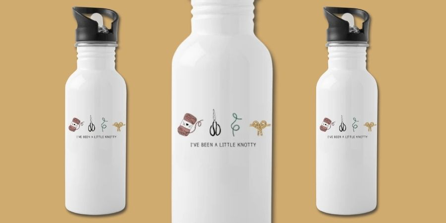 Macrame Water Bottle Designs Quote Knotty - Macrame for Beginners