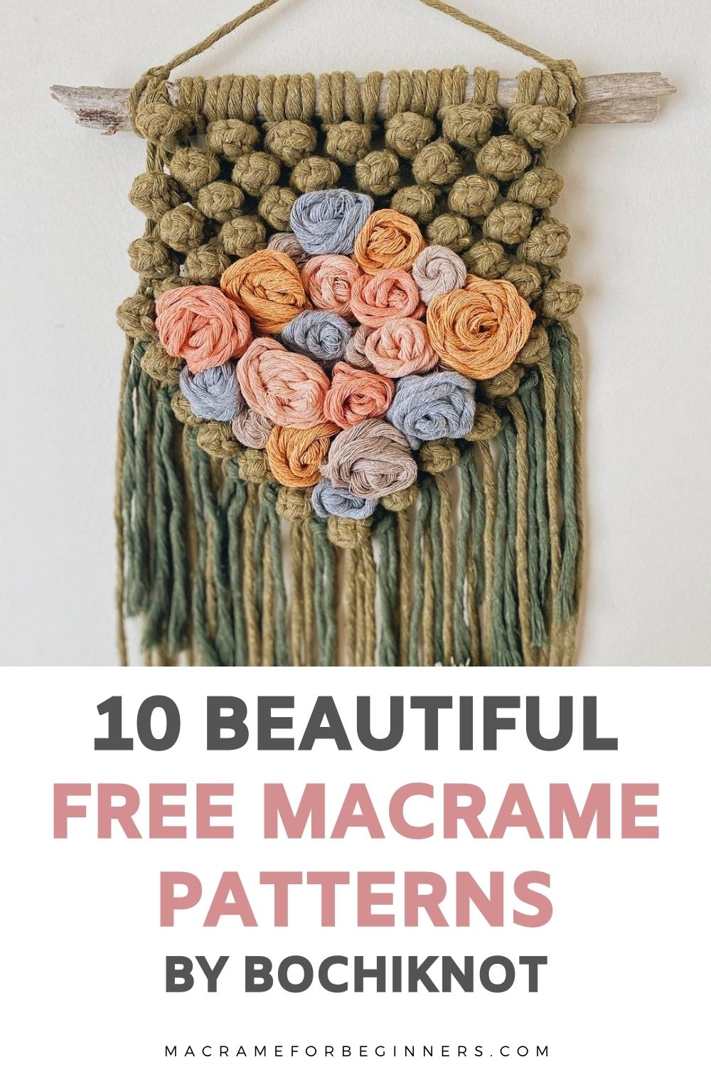 10 Gorgeous Free Macrame Patterns and Video Tutorials by Bochiknot + Interview - Macrame for Beginners
