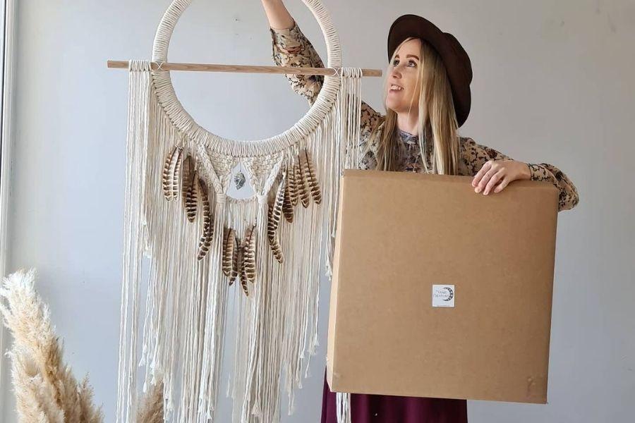 8 Beautiful Free Boho Macrame Patterns with DIY Kit by Vanir Creations