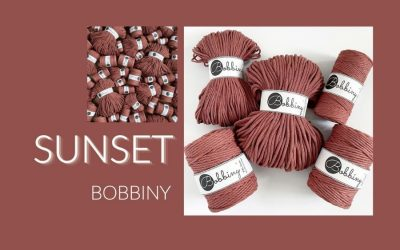 Bobbiny Launches New Shade SUNSET for their 2021 Macrame Cord Collection