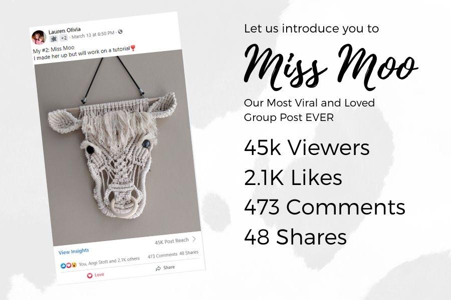 Miss Moo - Macrame Cow