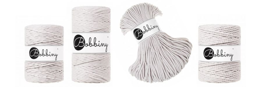 Bobbiny Macrame Cords Moonlight - Spring 2021 Cord Collection