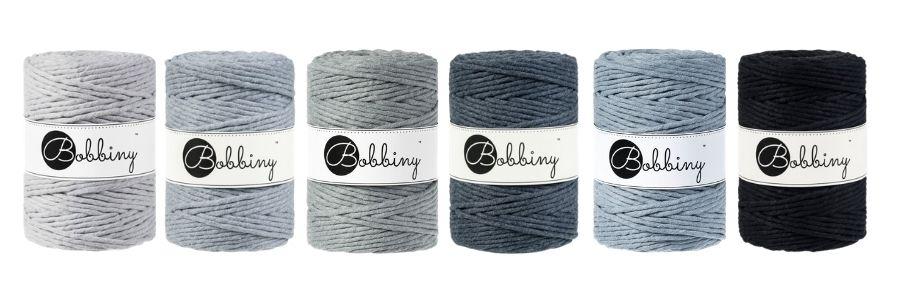 Grey Scale Macrame Cords - Bobbiny