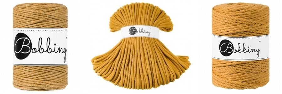 Mustard Macrame Cords - Bobbiny