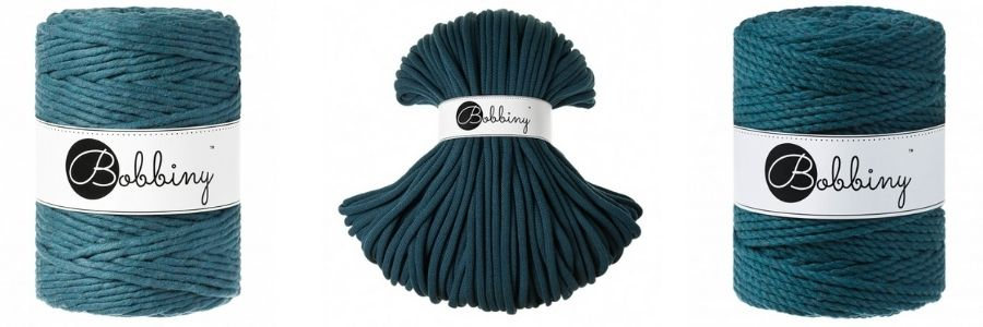 Peacock Blue Macrame Cords - Bobbiny