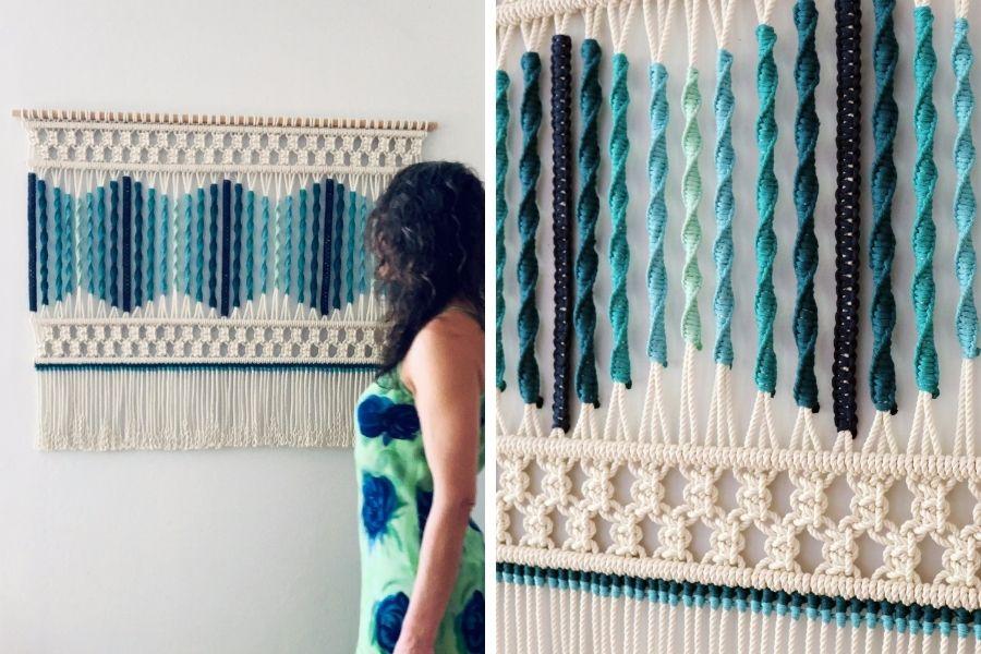 Sonata del Mar Macrame Wall Hanging Tutorial by Fibers of Mine 2 - Macrame for Beginners