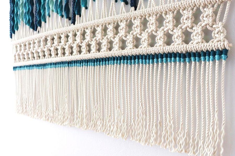 Sonata del Mar Macrame Wall Hanging Tutorial by Fibers of Mine 3 - Macrame for Beginners