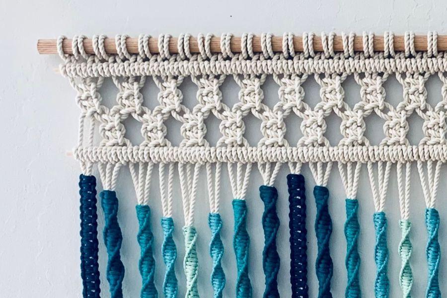 Sonata del Mar Macrame Wall Hanging Tutorial by Fibers of Mine 4 - Macrame for Beginners