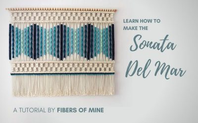 How To Make the Sonata Del Mar Macrame Wall Hanging – Easy Tutorial for Beginners by Fibers of Mine