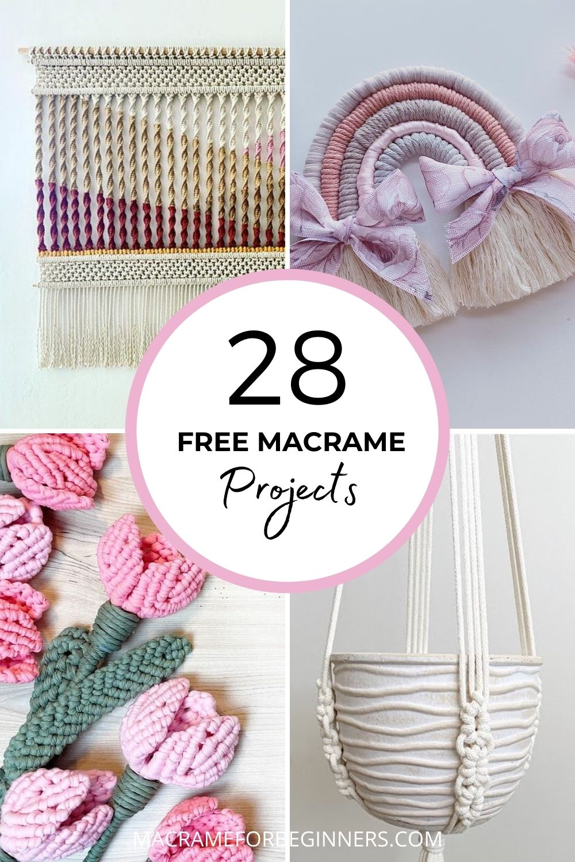 28 FREE Macrame Patterns To Celebrate 28K Facebook Group Members - Macrame for Beginners