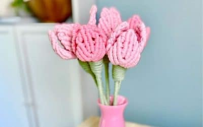 8 Gorgeous Free Macrame Flower Patterns by Simply Inspired