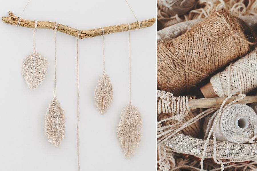 12 DIY Macrame Feather Wall Hanging Patterns for Beginners