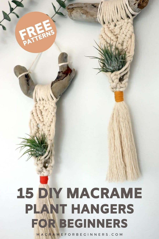 15 Completely Free DIY Macrame Plant Hanger Patterns for Beginners