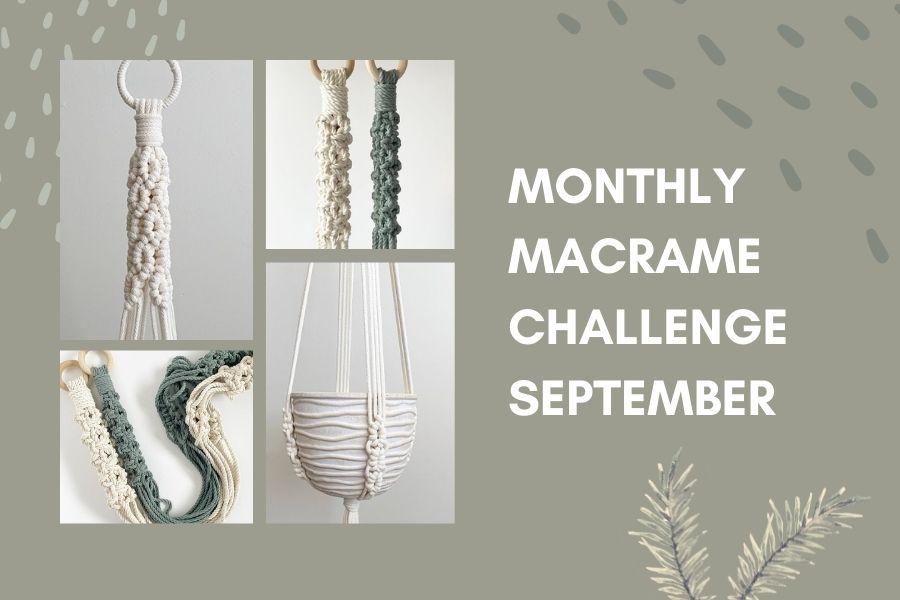 September Monthly Macrame Challenge – Soulful Notions Macrame Plant Hanger