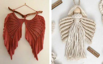 14 Super Pretty DIY Macrame Angels & Macrame Angel Wings Patterns