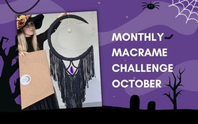 October Monthly Macrame Challenge – Vanir Creations Macrame Halloween Wall Hanging