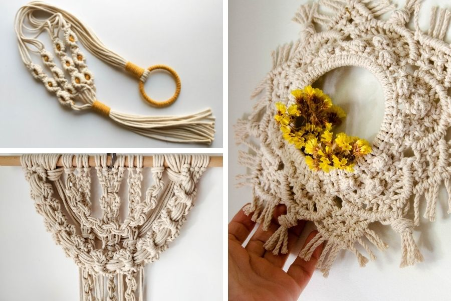 14 Beautiful and Unique Macrame Tutorials by Ourania from myTotalHandmade