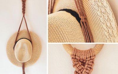 Super Easy DIY Macrame Hat Hanger for Beginners by Marloes Ratten