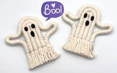 Tutorial of the Week: Spooky Halloween Macrame Ghosts by Summer Macrame